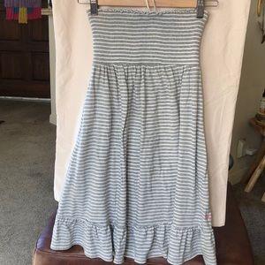 PINK Victoria's Secret Gray & White striped dress